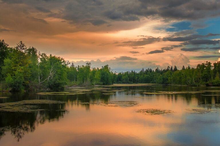 Deine Fasten Reise_Feldberger Seenlandschaft Sonnenuntergang